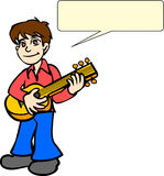 Boy Playing Guitar Royalty Free Stock Photography