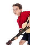 Boy Playing Guitar Stock Photography