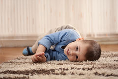 Boy playing and having fun at home Royalty Free Stock Image