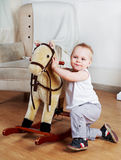 Boy playing at home Royalty Free Stock Images