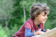 Boy playing Royalty Free Stock Photos