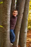 Boy playing outdoor Stock Photos