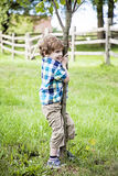 Boy playing in park Royalty Free Stock Photography