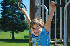 Boy Playing at Park Stock Photography