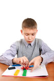 Boy Playing with Plasticine Stock Image