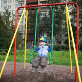 Boy Playing on Playground Royalty Free Stock Photos
