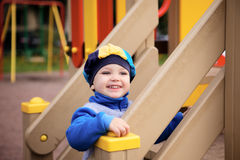Boy Playing on Playground Royalty Free Stock Photography
