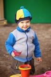 Boy Playing in Sandbox Royalty Free Stock Image
