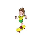 Boy playing skateboard Stock Image