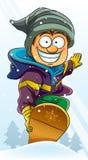 Boy Playing Snowboard Royalty Free Stock Image
