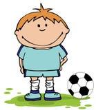 Boy Playing Soccer Stock Photo
