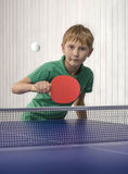 Boy playing table tennis Royalty Free Stock Images