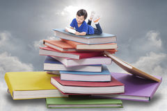 Boy playing tablet Royalty Free Stock Images