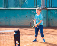 Free Boy Playing Tennis Stock Photography - 80450262