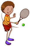 A boy playing tennis Stock Image