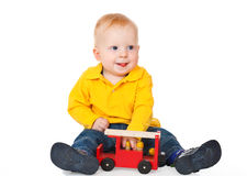 Boy playing with toy Royalty Free Stock Image