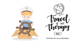 Boy playing with toy sailing boat.Travel and adventure concept. Royalty Free Stock Photography