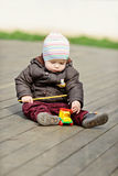 Boy playing   toy Royalty Free Stock Image