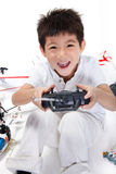 Boy playing toys Royalty Free Stock Photo