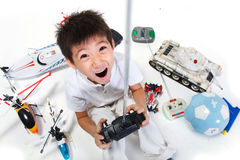 Boy playing toys Royalty Free Stock Image