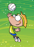Boy playing volley royalty free illustration