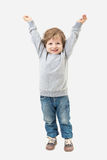 Boy playing welcomes Stock Photos