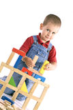 Boy Playing With Blocks Stock Images