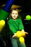The boy in the playroom Stock Image