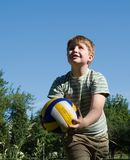 Boy plays a ball Stock Image