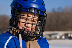 Boy plays hockey Royalty Free Stock Photography