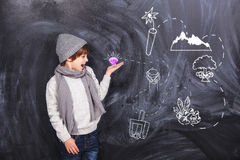 A boy plays in the quest Stock Photos