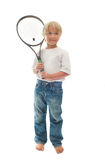 Boy plays tennis Royalty Free Stock Photography