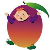 Boy in plum suit Stock Photo