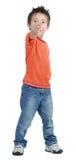 Boy pointing Stock Photo
