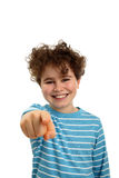 Boy pointing Stock Images