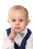 Boy pointing at camera with his finger Royalty Free Stock Images