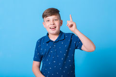 Boy pointing at Royalty Free Stock Images