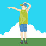 Boy Pointing Finger. An image of a boy pointing his finger Royalty Free Stock Image