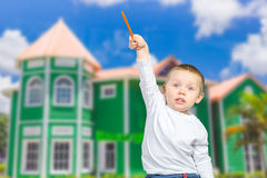 boy pointing up Royalty Free Stock Photography