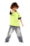 Boy pointing at you Stock Image