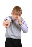 Boy Pointing at You Stock Images