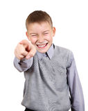 Boy pointing at You Stock Photos