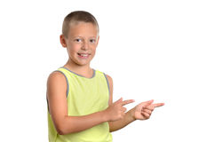 Boy Pointing Stock Photography
