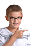 Boy Pointing Royalty Free Stock Image