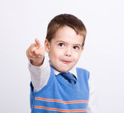 boy points at something Royalty Free Stock Photography
