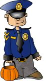 Boy in a Policeman Costume Royalty Free Stock Photos