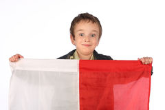 Boy with Polish flag Royalty Free Stock Photography