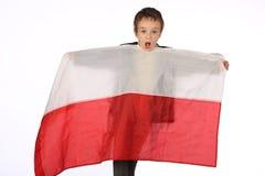 Boy with Polish flag Stock Photography