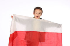 Boy with Polish flag Royalty Free Stock Photo