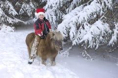 Boy and Pony Stock Photos